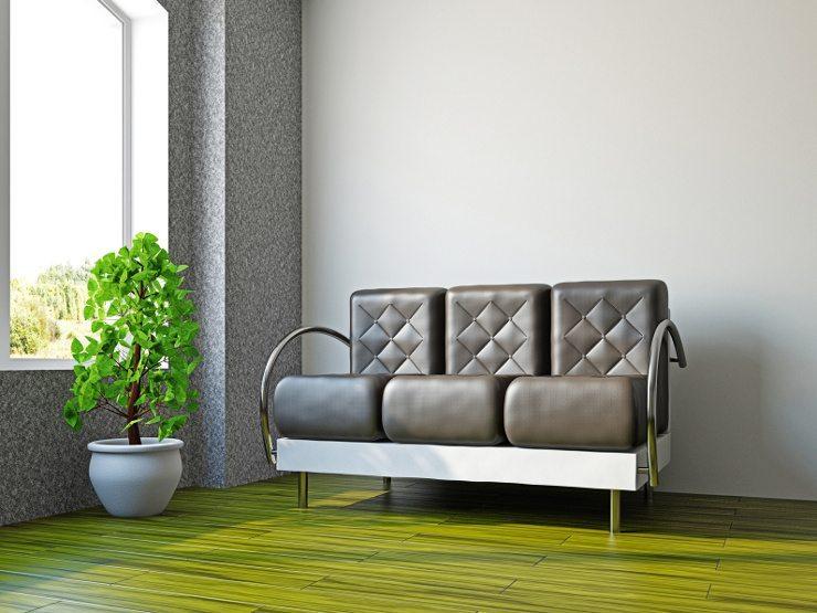 Der futuristische Stil macht auch nicht vor dem Ledersofa halt. (Bild: © astragal - fotolia.com)
