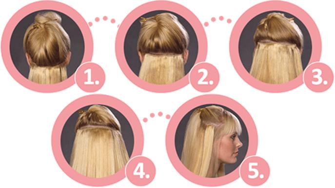 Hair Extensions - so einfach geht's. (Bild: © Rubin Extensions / rubin-extensions.ch)