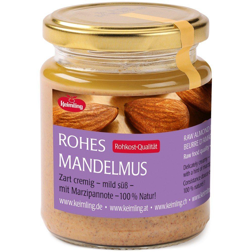 Hochwertiges Mandelmus aus rohen Mandeln ist sehr zu empfehlen. (Bild: © keimling.ch)