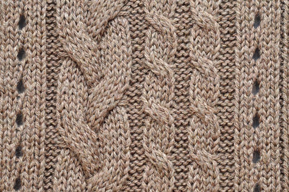 Zu den beliebtesten Mustern gehören nach wie vor die Zopfmuster. (Bild: © Andreja Donko - shutterstock.com)
