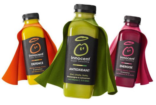 Functional Smoothies versorgen mit Obst und Gemüse sowie extra Vitaminen. (Bild: © innocent)
