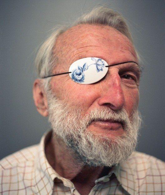 Augenklappe, Porzellan, Damian O'Sullivan.