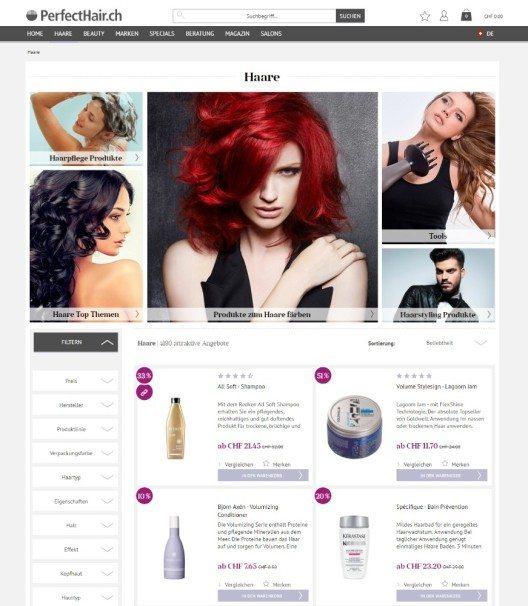 Der E-Shop PerfectHair.ch hat eine technologische und visuelle Rundumerneuerung erfahren. (Bild: © PerfectHair.ch)