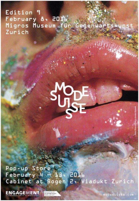 Die neunte Ausgabe der Mode Suisse findet am Montag, 8. Februar 2016, im Migros Museum für Gegenwartskunst in Zürich statt. (Bild: © Mode Suisse)