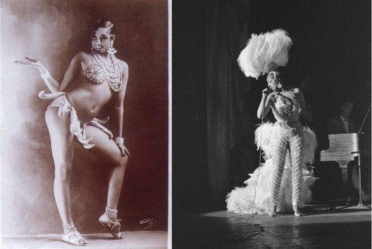 Josephine Baker – Tänzerin und Stilikone. (Bilder: links - Walery, French, Wikimedia, public domain; rechts - Pot, Harry / Anefo, Wkimedia, CC)