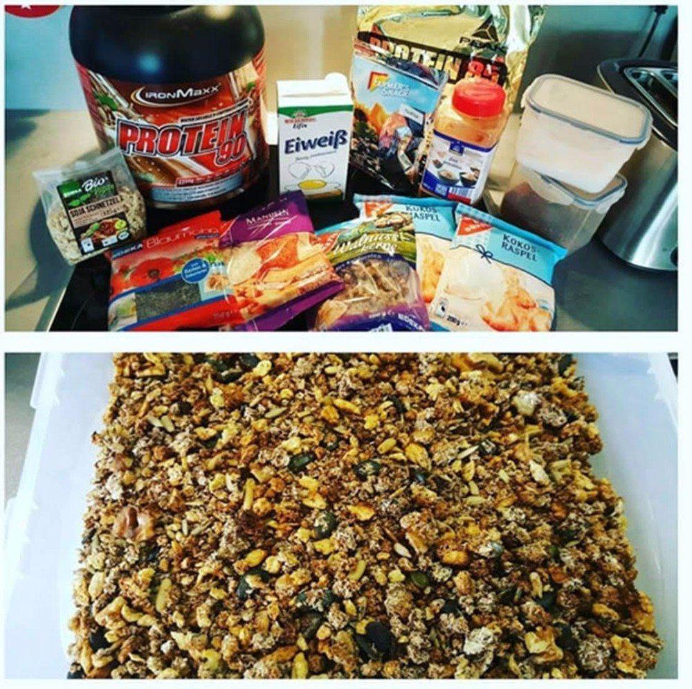 Zutaten für das Crunchy Low Carb-Müsli (Bild: © Fit'n Sexy)