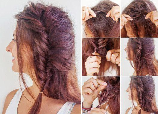Für Flechtfrisuren sollte man einzelne Haarsträhnen mit Haarspray fixieren. (Bild: Mila Supinskaya – Shutterstock.com)