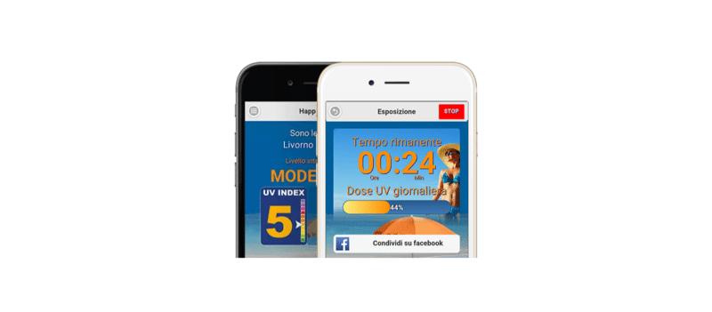 """""""HappySun"""": Neue App warnt vor zu viel Sonne (Bild: © sihealth.it)"""