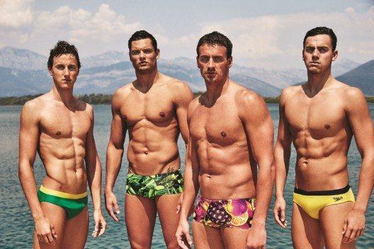 """Speedo International liess sich bei den Bademoden für seine neue """"Lifestyle-Kollektion"""" von fröhlichen Tropenfarben inspirieren. (Bild: © Speedo International)"""