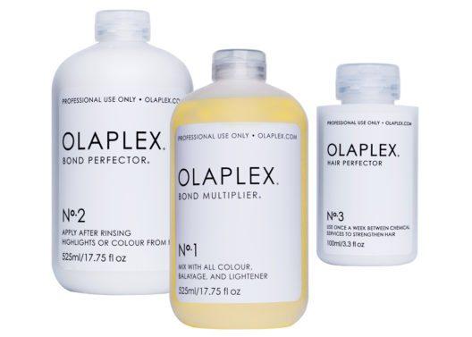Olaplex® Serie: No. 1 – Bond Multiplier, No. 2 – Bond Perfector, No. 3 – Hair Perfector. (Bild: Olaplex)