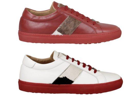 Die trendigen Schuhe mit der roten Sohle aus der Kollektion Bosco (Bilder: Ammann Shoes)