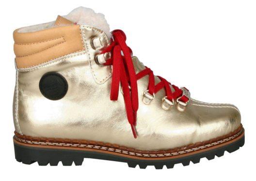Der perfekte Jubiläumsschuh in trendigem Gold (Bild: Ammann Shoes)