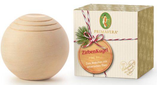 Geschenkset ZirbenKugel (Bild: Primavera)