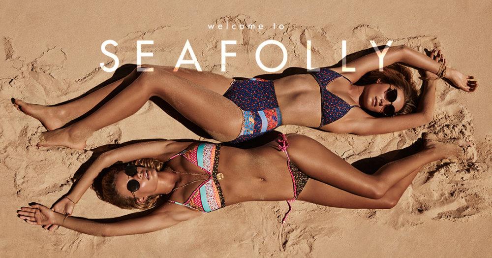 SEAFOLLY F-S 17 - Caribbean Kool Sweetheart Bralette & Hipster Tie Side