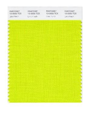 PANTONE 13-0550 Lime Punch: Lime Punch erinnert mit seiner Frische und Spritzigkeit an eine Zitrusfrucht und darf auf der Farbpalette für das Frühjahr 2018 auf keinen Fall fehlen.
