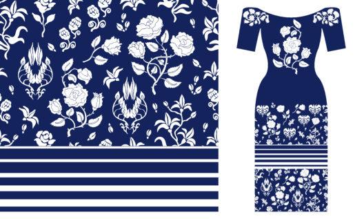 Kleid mit kombiniertem Muster (Bild: © Svetlana Kononova - shutterstock.com)