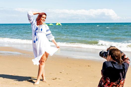 Fotoshooting mit Pauline am Strand