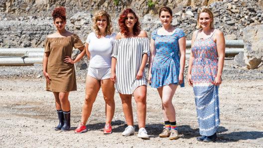 V.l.n.r.: Ines, Alina, Pauline, Schulamit und Rahel