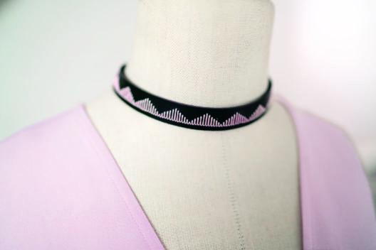 Leder-Accessoire von Yvonne Reichmuth, Schweizer Designerin (Bild: BERNINA International)