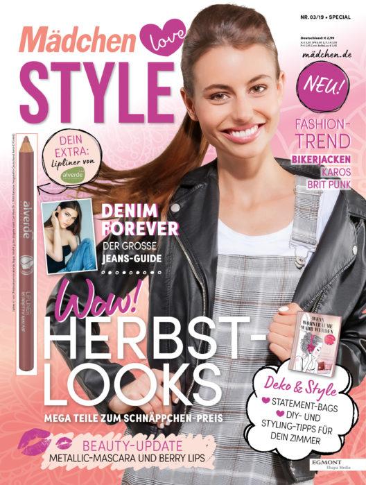 Cover der ersten Ausgabe von Mädchen love Style (Bild: obs/Egmont Ehapa Media)
